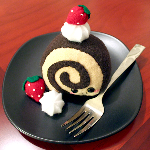 Cake Roll Art : Chocolatey Cake Roll Plushie by HezaChan on DeviantArt