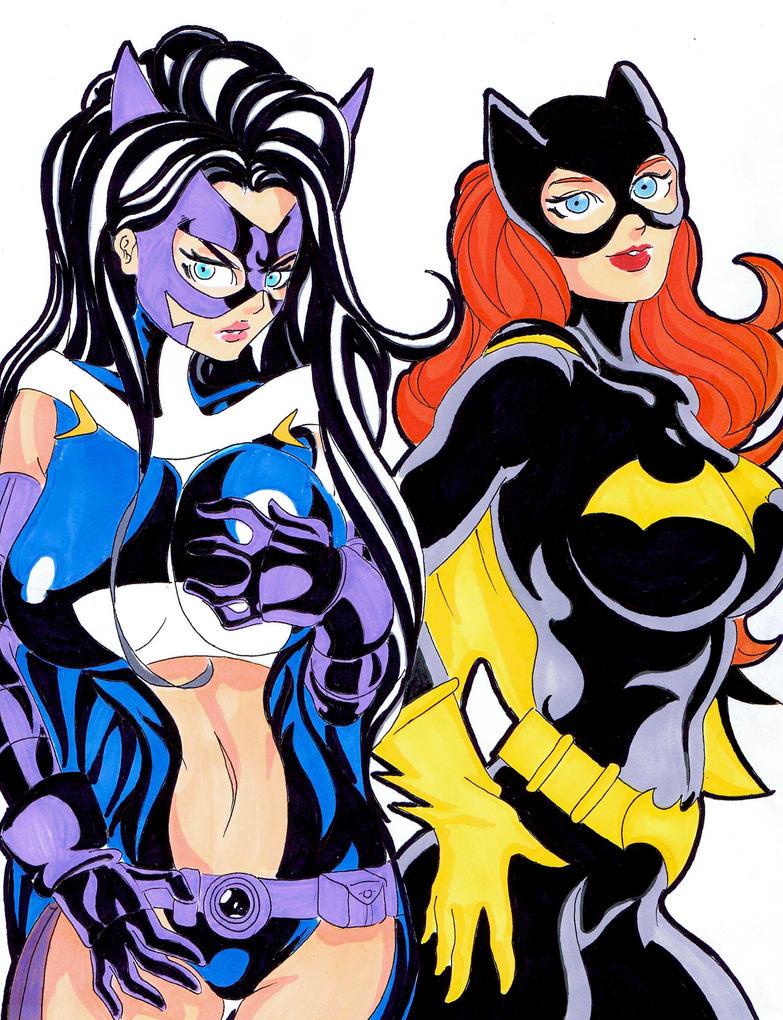 Huntress / Batgirl 8x11 color by SSaruman