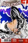 Black Cat Spider-Man Sketch Cover 2