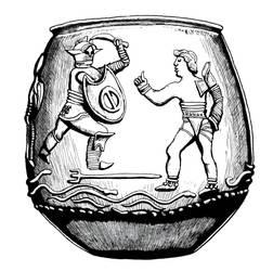 Lunar Empire Gladiator Amphora