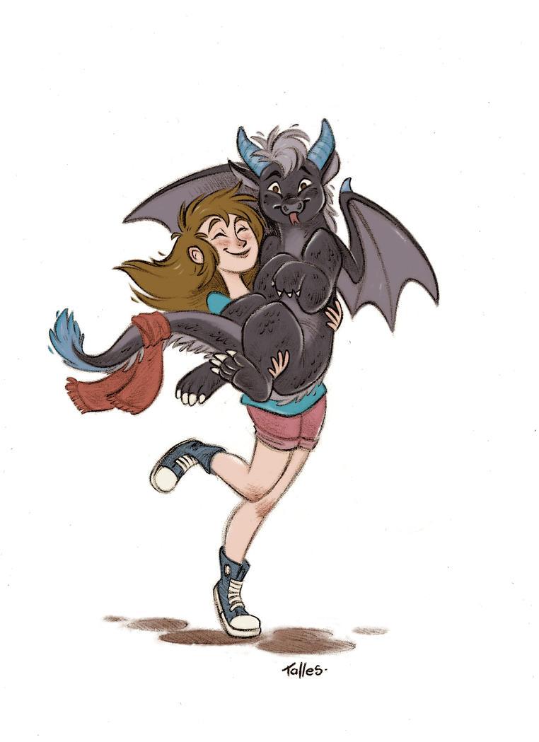 Grab your dragon best friend by Kallica