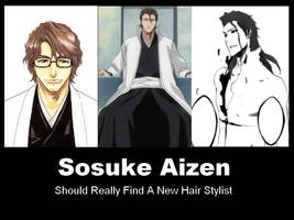 Aizen Demotivational Poster by gin-vs-aizen