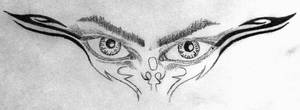 Tribal Eyes Tattoo Designe