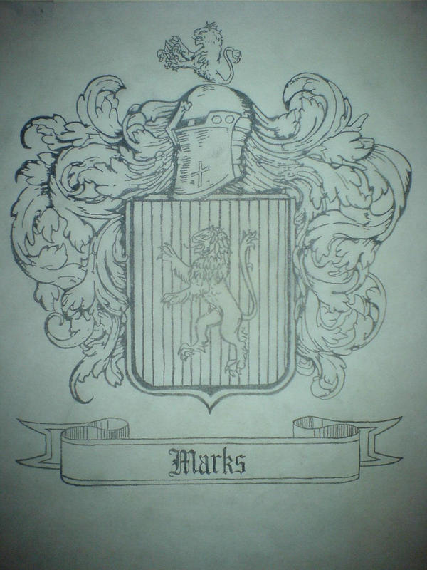 Marks Family Crest Sketch