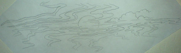 Ocean Horizon Sunrise sketch