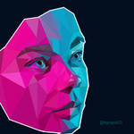 low poly, faces