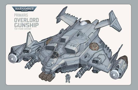WH40K Fanart - Primaris Overlord Gunship Concept
