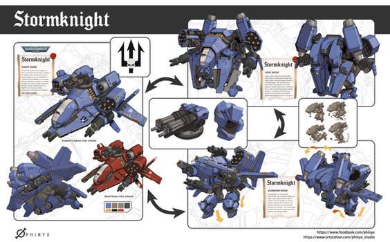 WH40K Fanart - Stormknight Concept