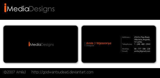 Imedia Logo n Business card