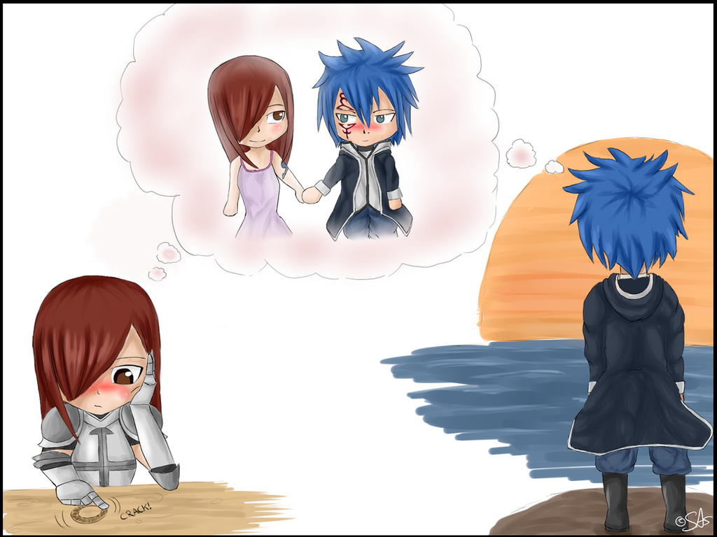 chibi wish Erza x Jellal by swiftwingOC95 on DeviantArt