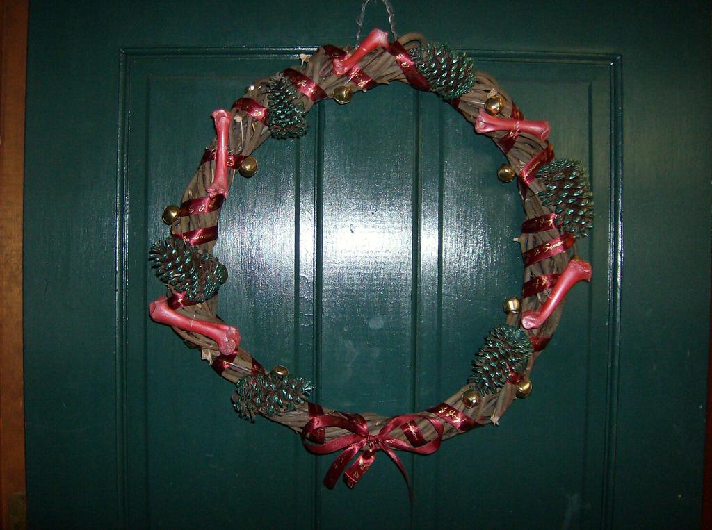 Sheep Bone Christmas Wreath by towelgirl21