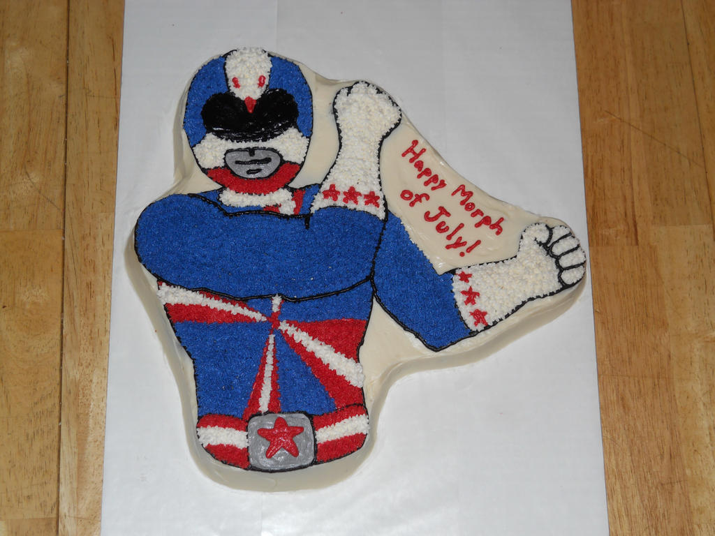4th Of July Power Rangers Cake By Towelgirl21 On Deviantart