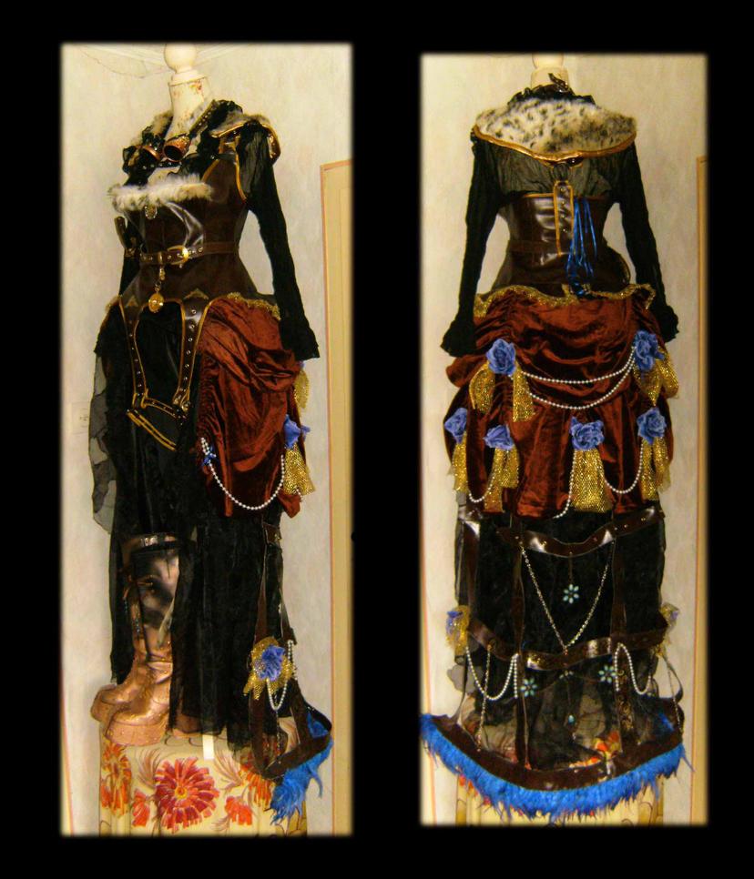 Steampunk Dress by duke-of-terror
