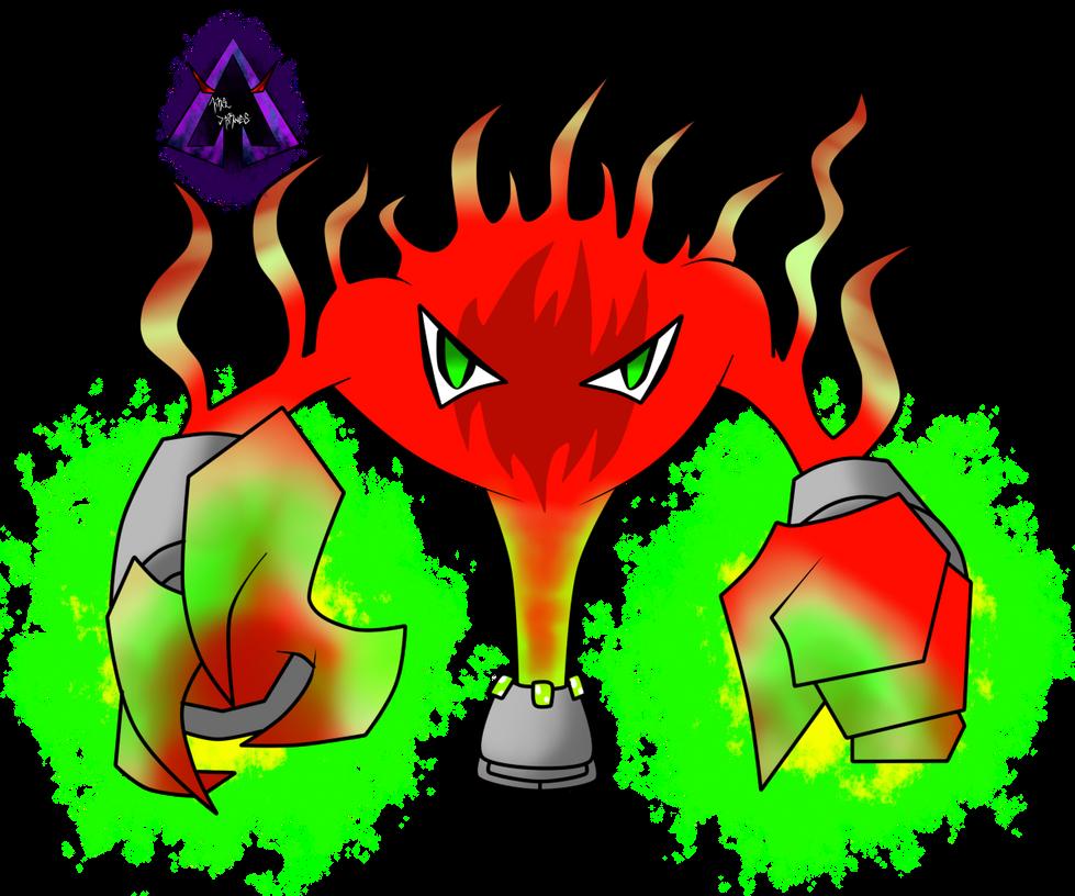 Nijitaki Fakemon! 064 Nuclerior by arkaeldarknnes