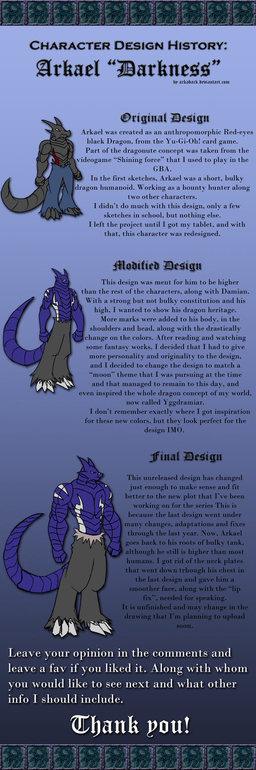 Character Design History : Character design history arkael by arkadark on deviantart
