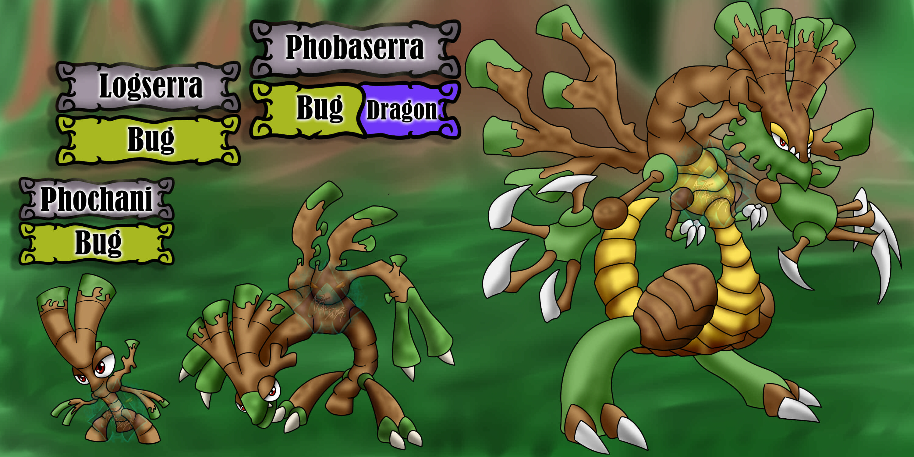 Nijitaki Fakemon 12 14 Bug Dragon Video By Arkadark On Deviantart
