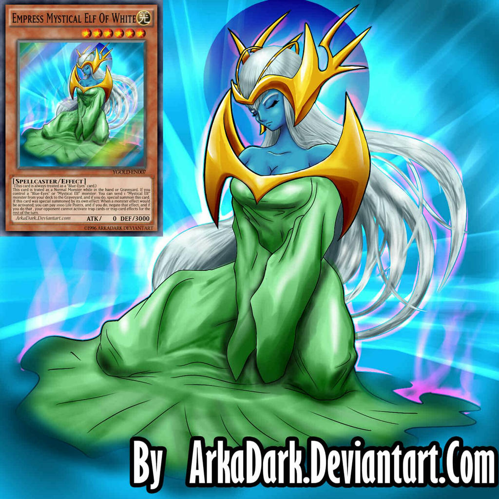ygo ld empress mystical elf of white by arkadark on deviantart