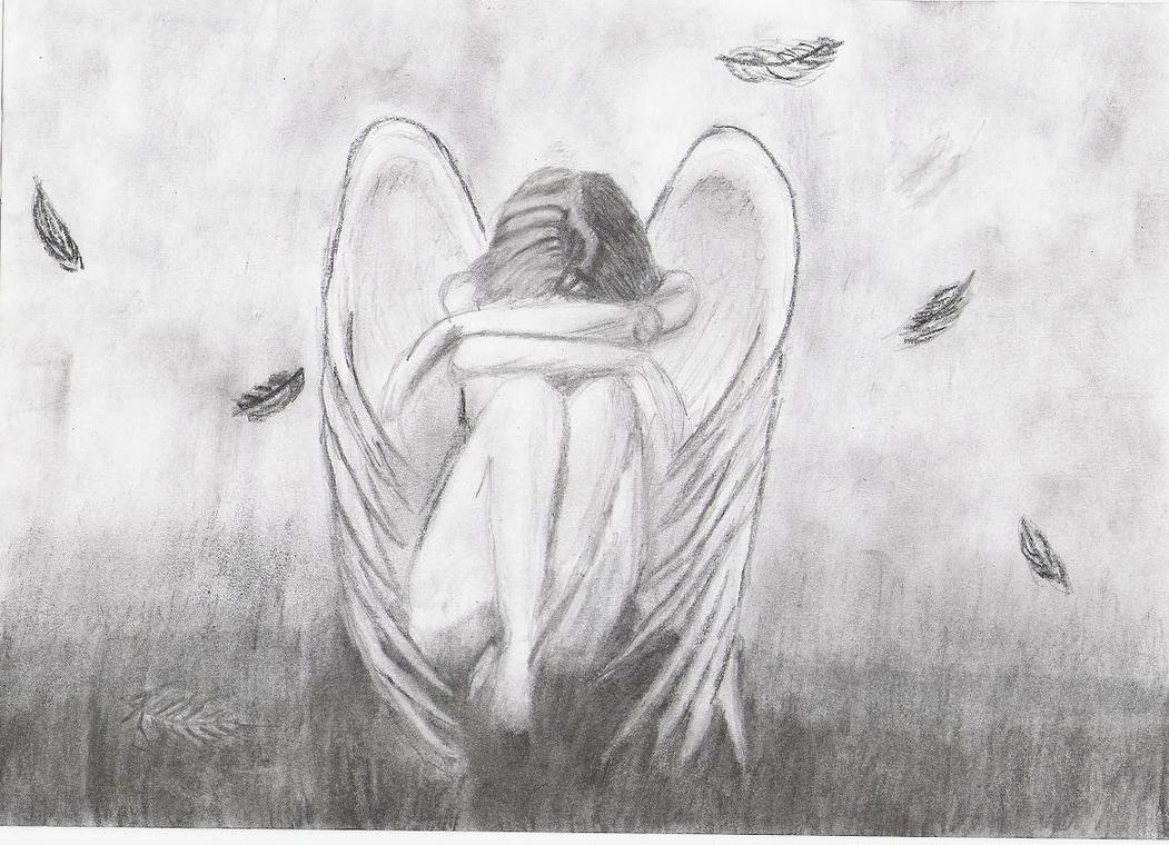 depressed angel drawings - photo #2