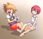 KH Sora tickled