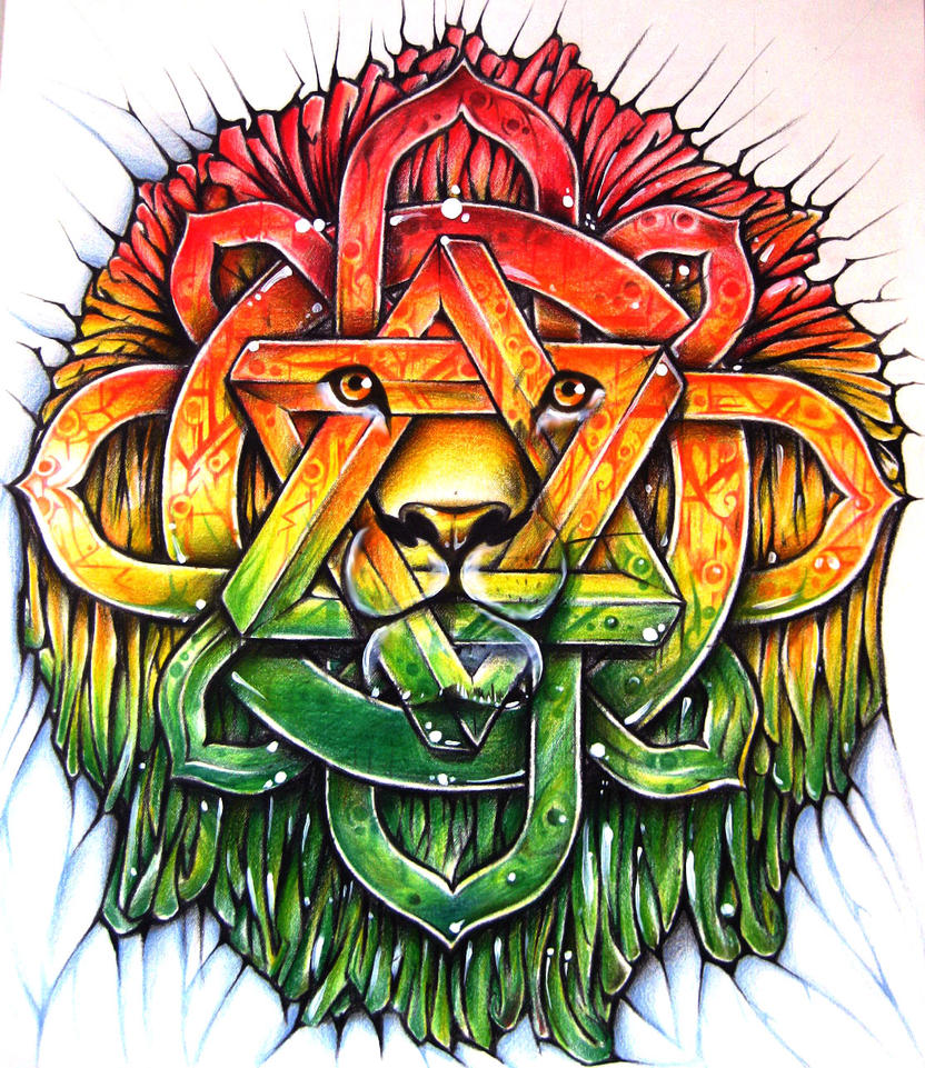Lion Of Zion mandala by Alhoide