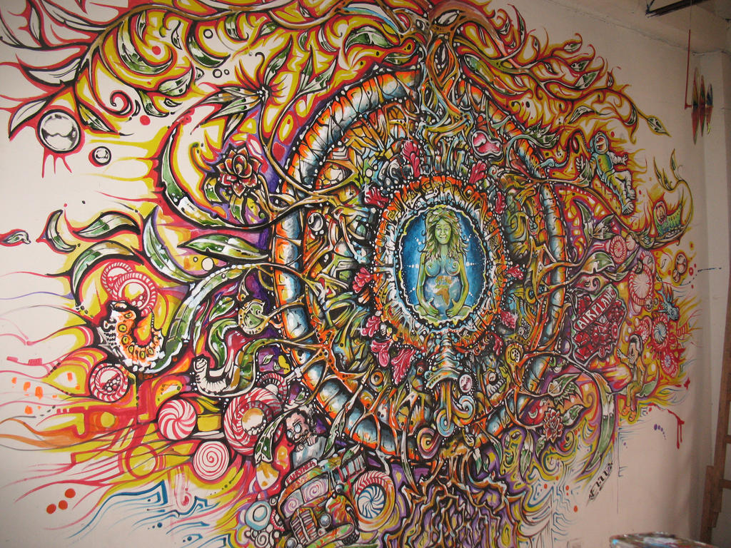 Psychedelic Wall Murals Gaia Tattoo Designs Www Imgkid Com The Image Kid Has It