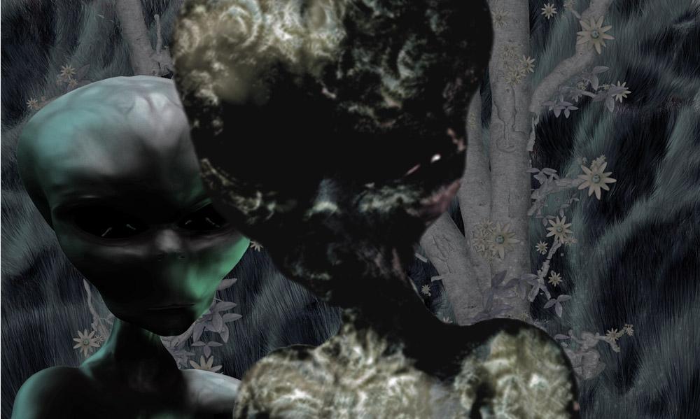 Aliens in the jungle by ArtOrca