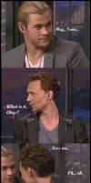 Chris wants a kiss!