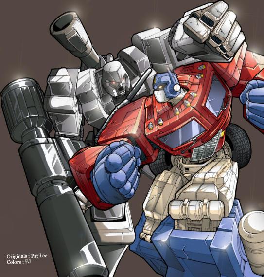 Megatron vs optimus prime taringa - Transformers cartoon optimus prime vs megatron ...