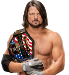 AJ STYLES UNITED STATES CHAMPION PNG 2017