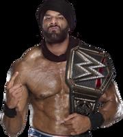 JINDER MAHAL WWE CHAMPION RENDER 2017 by Antonixo02