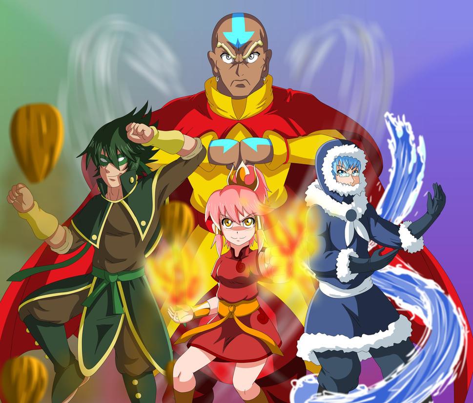 Elite Four Elements by bocodamondo