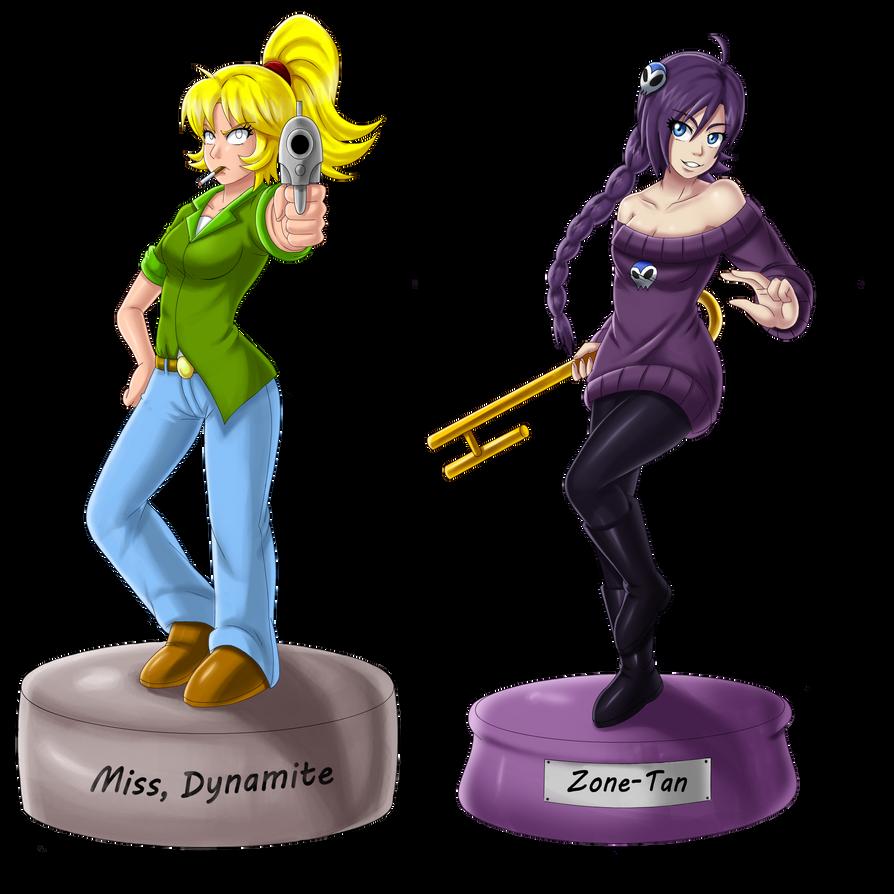 Zone-tan and miss dynamite by bocodamondo