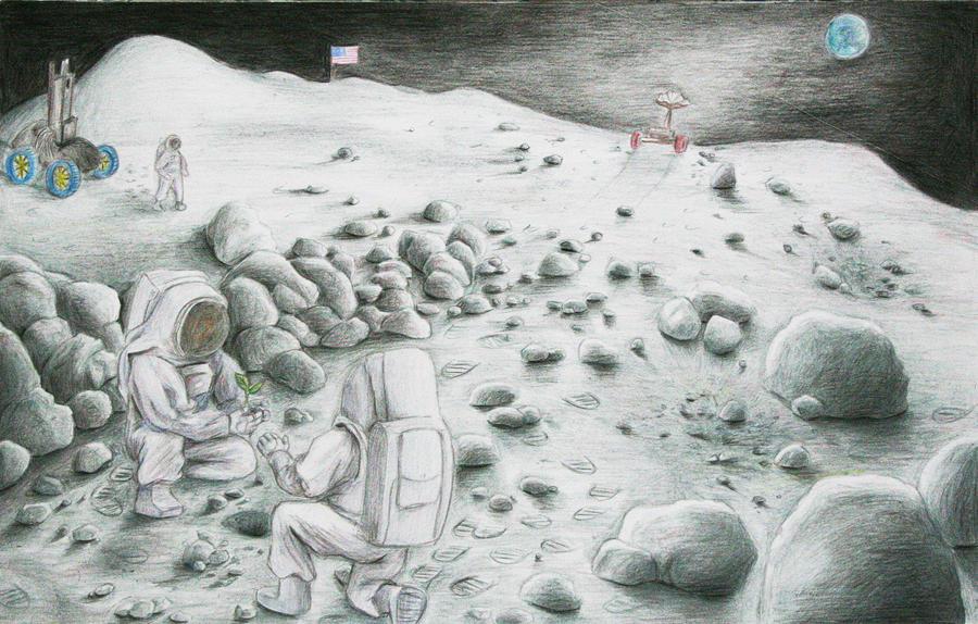 Life On the Moon by trivostudio on DeviantArt