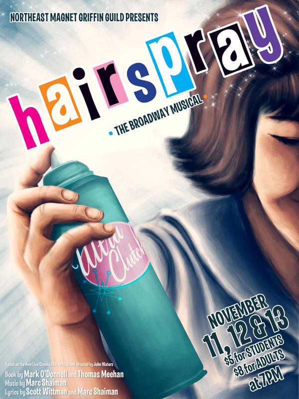 Hairspray Musical Poster. Hairspray the Musical by