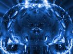 randomness in blue