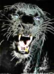 Fractal black panther