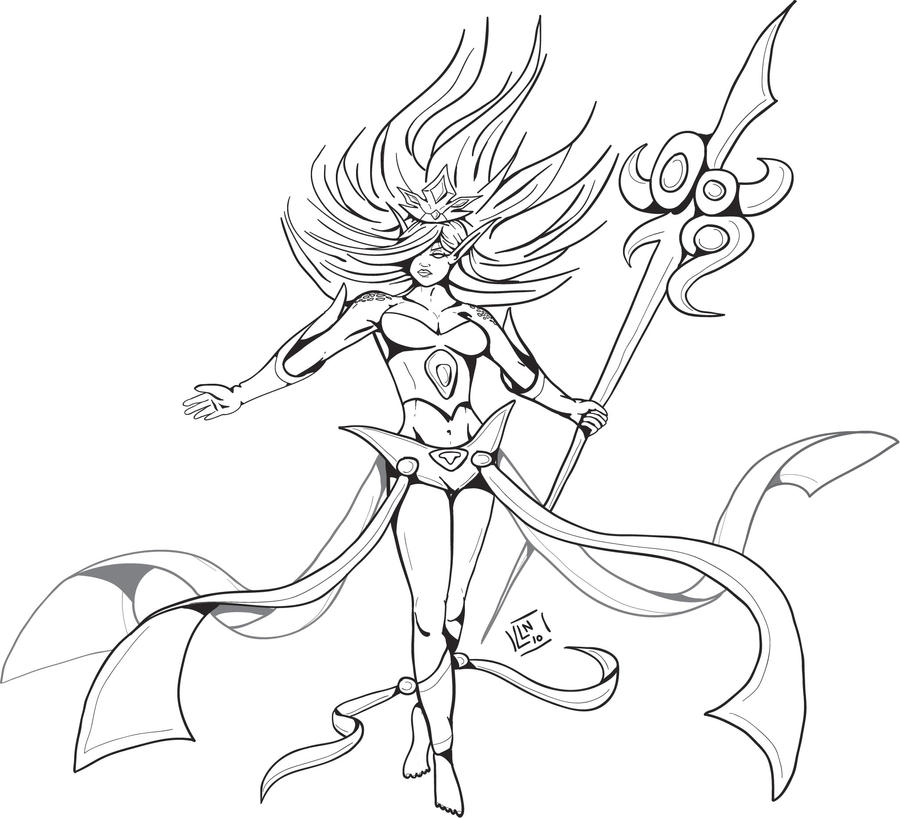 Jinx League Of Legends Coloring Pages Sketch Coloring Page