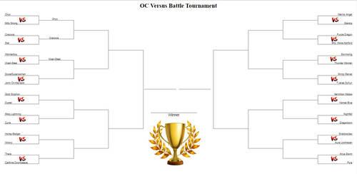 OC Versus Battle Tournament Bracket by LordAmon12