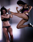 Sparring: Susan and Alyssa