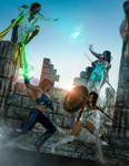 Thunder Woman/Dragonborn vs Oceania/Thera