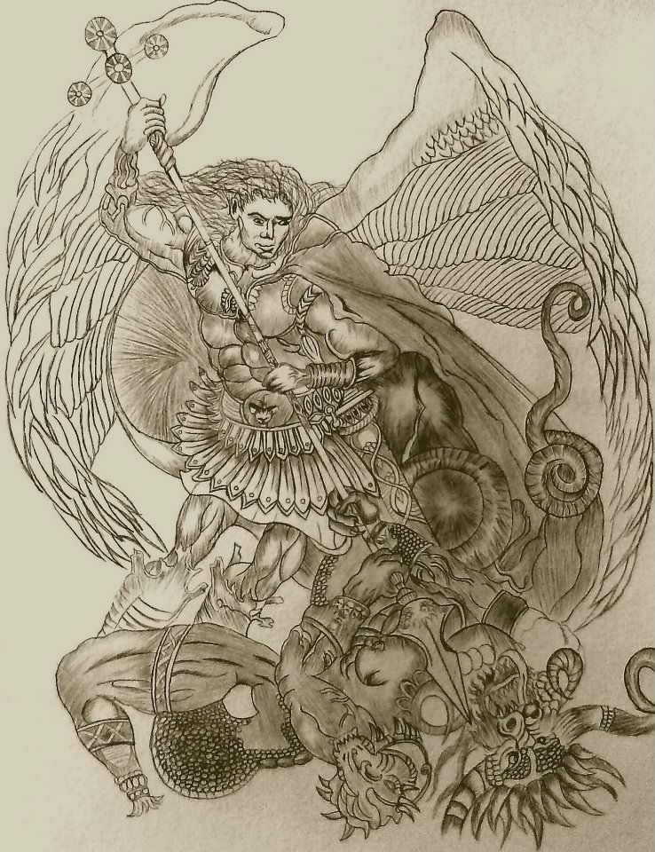 archangel michael vs lucifer by hunteriv on deviantart