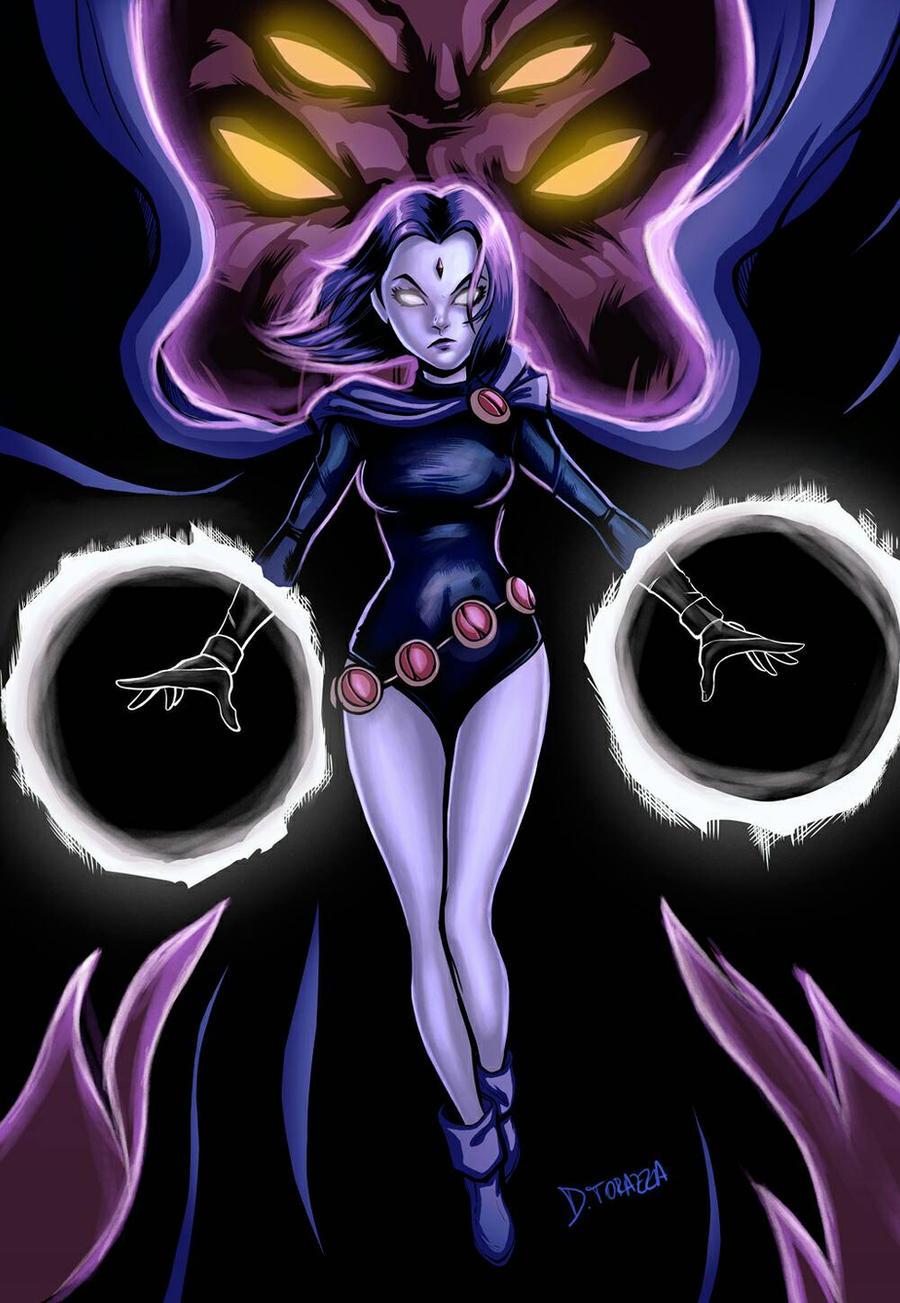 raven  dc comics  by d thorazza dbps6je