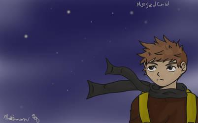 A random boy at night... by NaelSchenfel