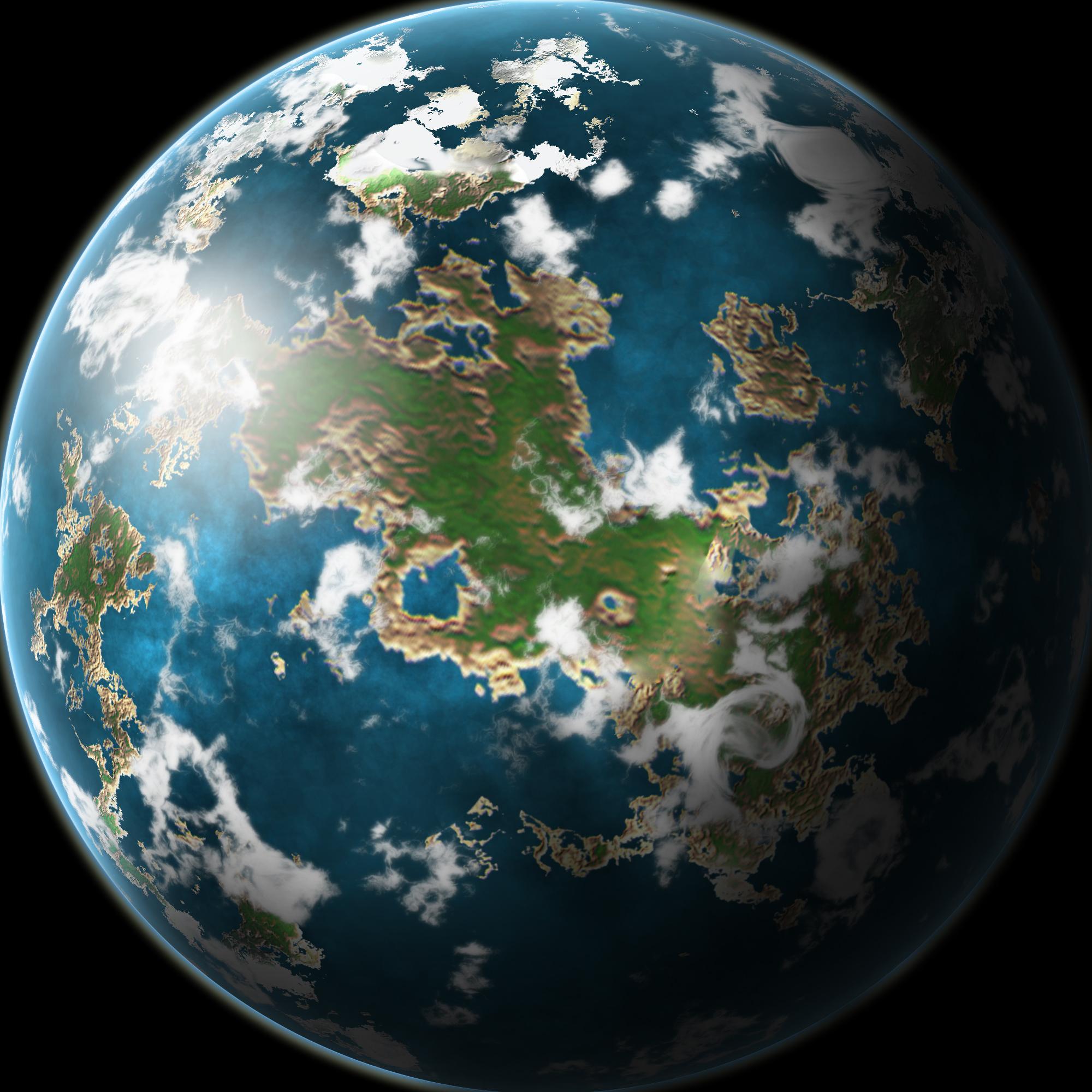 Earthlike Planet by Thobewill on DeviantArt