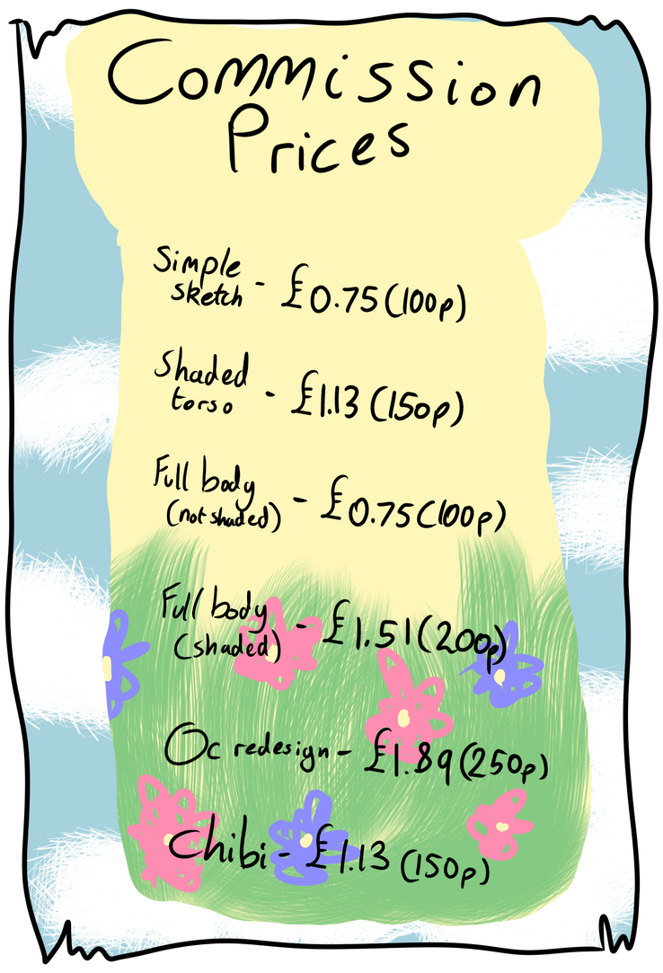 Commission Price Sheet by Pugbrainey