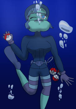 Commission: Freediver wants to battle!