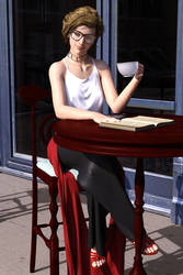 Meanwhile in a P-U... 09 - Drinking a Cup of Tea by mekheke
