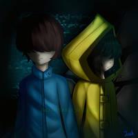 Seven and Six  [ Little Nightmare Fanart ] by JACKAPPLE680