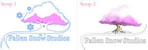Logo scraps for Fallen Snow Studios