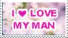 Love my man stamp